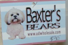 Baxters Bears Plush Ivory Color Teddy Bear Green Gold Plaid Bow image 3
