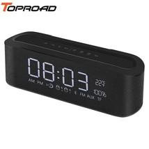 TOPROAD® Portable Bluetooth Speaker Wireless Hifi Stereo LED Digital Ala... - $47.33