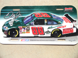 Dale Earnhardt Jr 88 Hard Plastic License Plate Nascar Racing Natl Guard... - $8.50