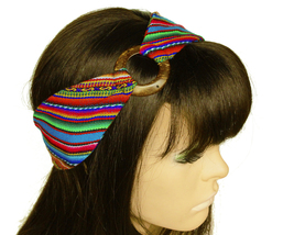 Turquoise Peruvian Woven Ethnic Headband, Head Wrap, boho headband wide ... - $18.64