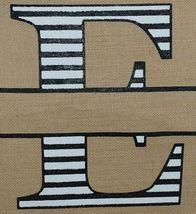 Kate Winston Brand Brown Burlap Monogram Black And White E Garden Flag image 3