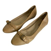 White Mountain Womens Shoes Size 8.5 Ivory Beige Round Toe Flats Casual  - $17.35