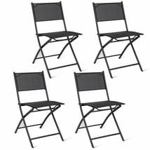 Set of 4 Outdoor Camping Deck Garden Folding Chairs Indoor Outdoor - $87.99