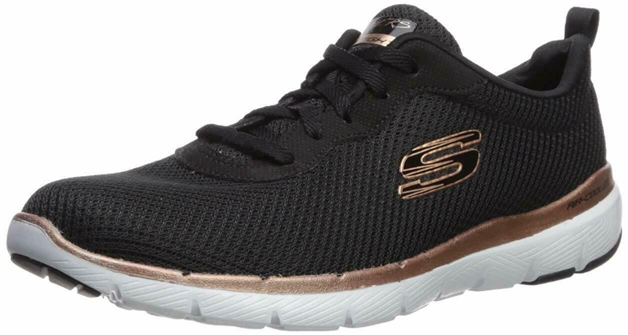 Skechers Sport Flex Appeal 3.0-First Insight Women's Sneaker 5.5 C/D US Black-Ro - $66.95