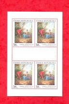 2017 NORBERT GRUND STAMP SHEET- 4pcs. # ART ON POSTAGE STAMPS  # CZECH R... - $12.29
