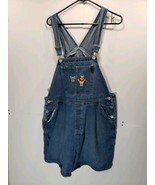 Vintage Tigger Winnie the Pooh Womens 18W Overalls Shortalls Shorts Deni... - $9.41