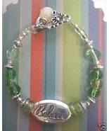"Inspirational ""Believe"" Beaded Wine Glass Charm  - $5.98"