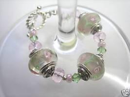 Wine Glass Bead Charm (Toggle Clasp) White - $5.98