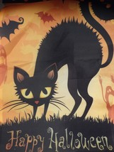 Black Cat Halloween Flag - $7.80