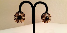 Florenza Signed Regal Victorian Opal and Garnet Estate Earrings - $45.00