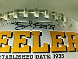 2018 PITTSBURGH STEELERS / TEAM SIGNED STEELERS LOGO WHITE PANEL FOOTBALL / COA image 8