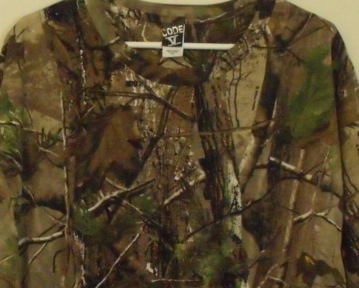 Mens Code V NWOT Camouflage Short Sleeve Crew Neck T Shirt Size 2XL