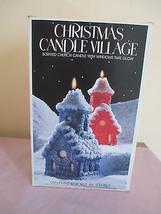 VTG RED CHURCH CANDLE, WINDOWS GLOW, CHRISTMAS VILLAGE LENOX OSHKOSH WI,... - $28.49