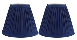 Urbanest Set of 2 Mushroom Pleated Chandelier Lamp Shade, 3-inch by 5-in... - $15.83