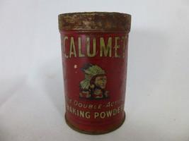 Vintage Calumet 4oz Double Acting Baking Powder Tin Chicago Illinois - $34.64