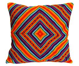 Rainbow PERUVIAN Cushion Cover, throw pillow, ethnic cushion, boho decor image 1