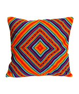 Rainbow PERUVIAN Cushion Cover, throw pillow, ethnic cushion, boho decor - $24.45+