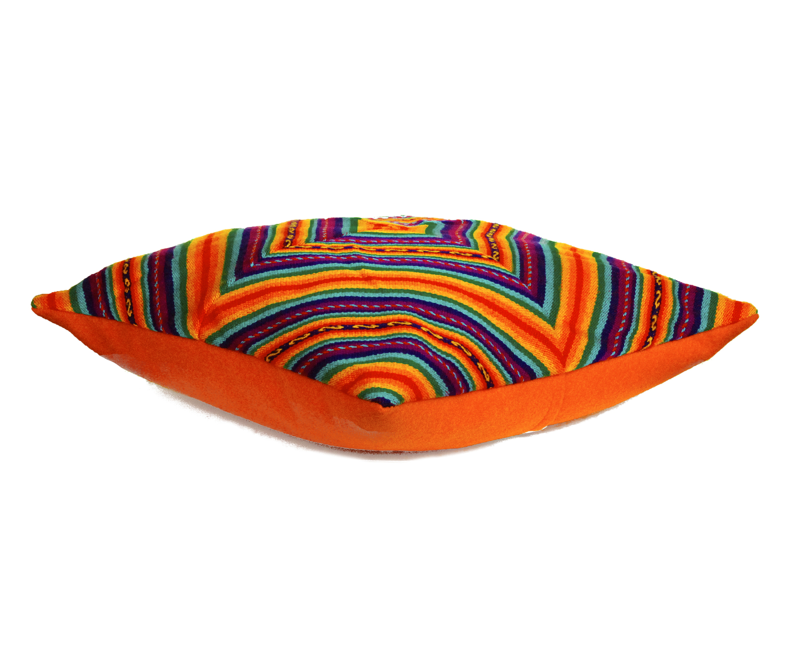 Rainbow PERUVIAN Cushion Cover, throw pillow, ethnic cushion, boho decor image 3