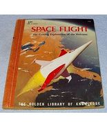 Golden Library of Knowledge Book Space Flight Coming Exploration - $7.95