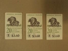 USPS Scott 1880-89 18c Lot Of 3 Books American Wildlife 50 Stamps Mint B... - $46.61