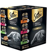 SHEBA PERFECT PORTIONS Wet Cat Food Cuts in Gravy Roasted Chicken, Gourm... - $14.75