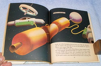 Golden Library of Knowledge Book Space Flight Coming Exploration