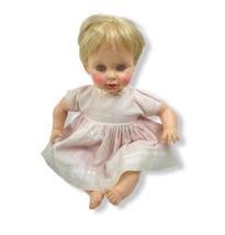 "Doll Effanbee Crier 1967 Doll 23"" Big Life Size Baby Vinyl Head-Limbs Cl... - $39.60"