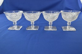 4 Westmoreland Glass English Hobnail Low Sherbet #555/2 - $19.80