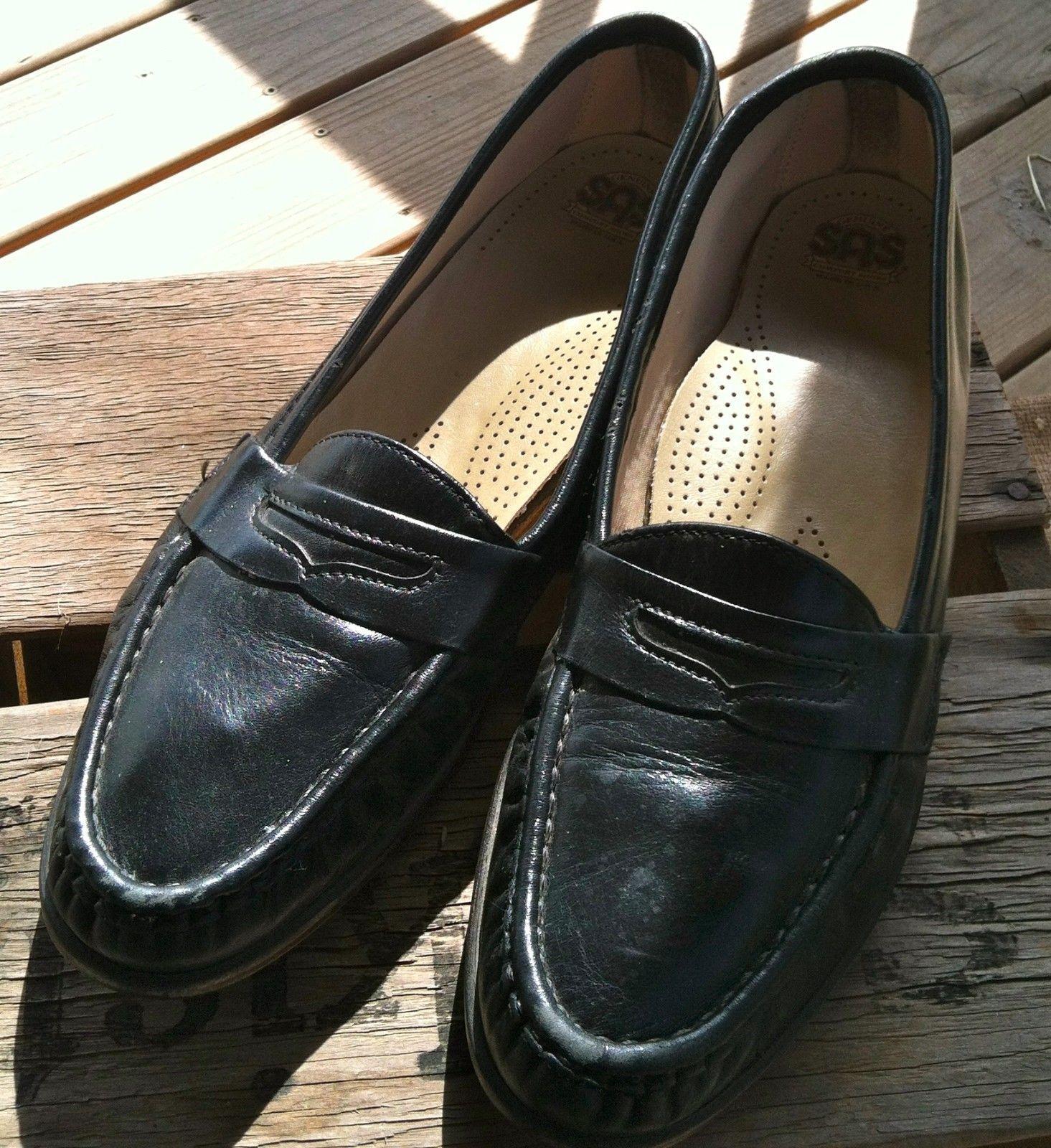 db179de3e67 57. 57. Previous. SAS Shoes Size 9.5N Penny J Classic Loafers Tripad  Comfort Black Women s