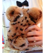 Bunny Phone Case Brown Leopard Rabbit Furry for iPhone6 6s iPhone7 7 Plu... - $30.00+