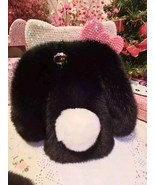 Bunny iPhone 6/6s Case Black Rabbit Fluffy Real Fur Cute Case White Shor... - $30.00+