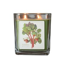 Wild Strawberry and Rhubarb  Hand Poured Verdure Gift Boxed Soy Candle USA made