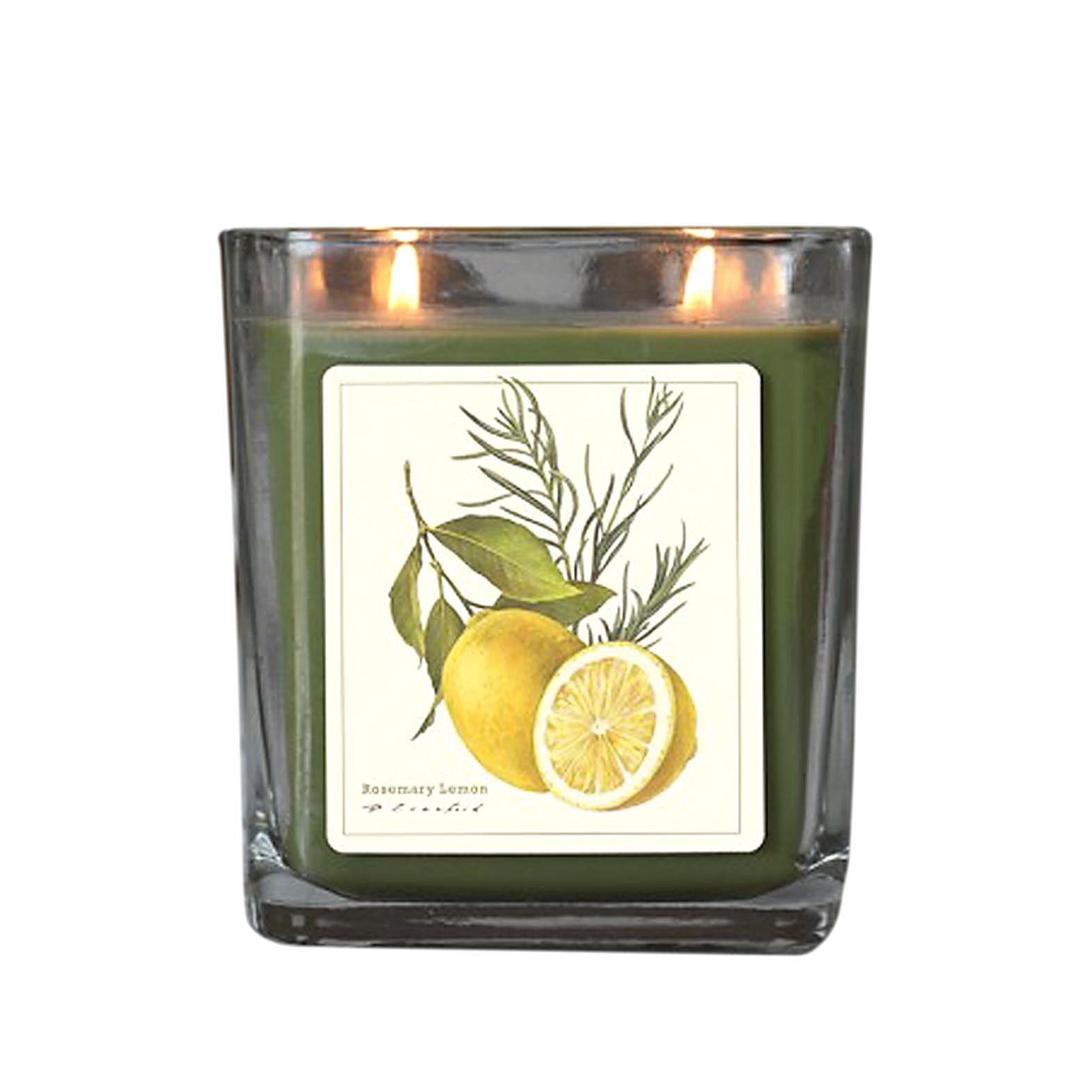 Rosemary Lemon  Hand Poured Verdure Gift Boxed Soy Candle USA made