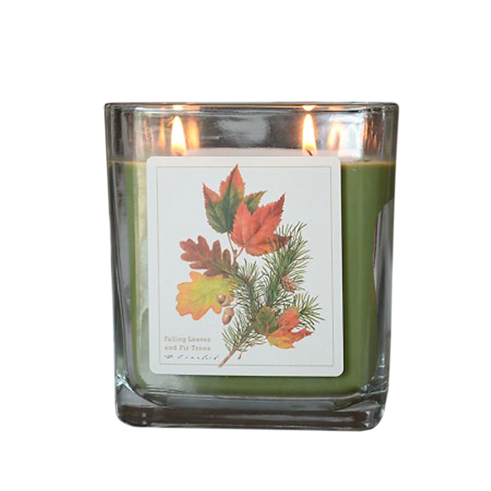 Falling Leaves and Fir Trees  Hand Poured Verdure Gift Boxed Soy Candle USA made
