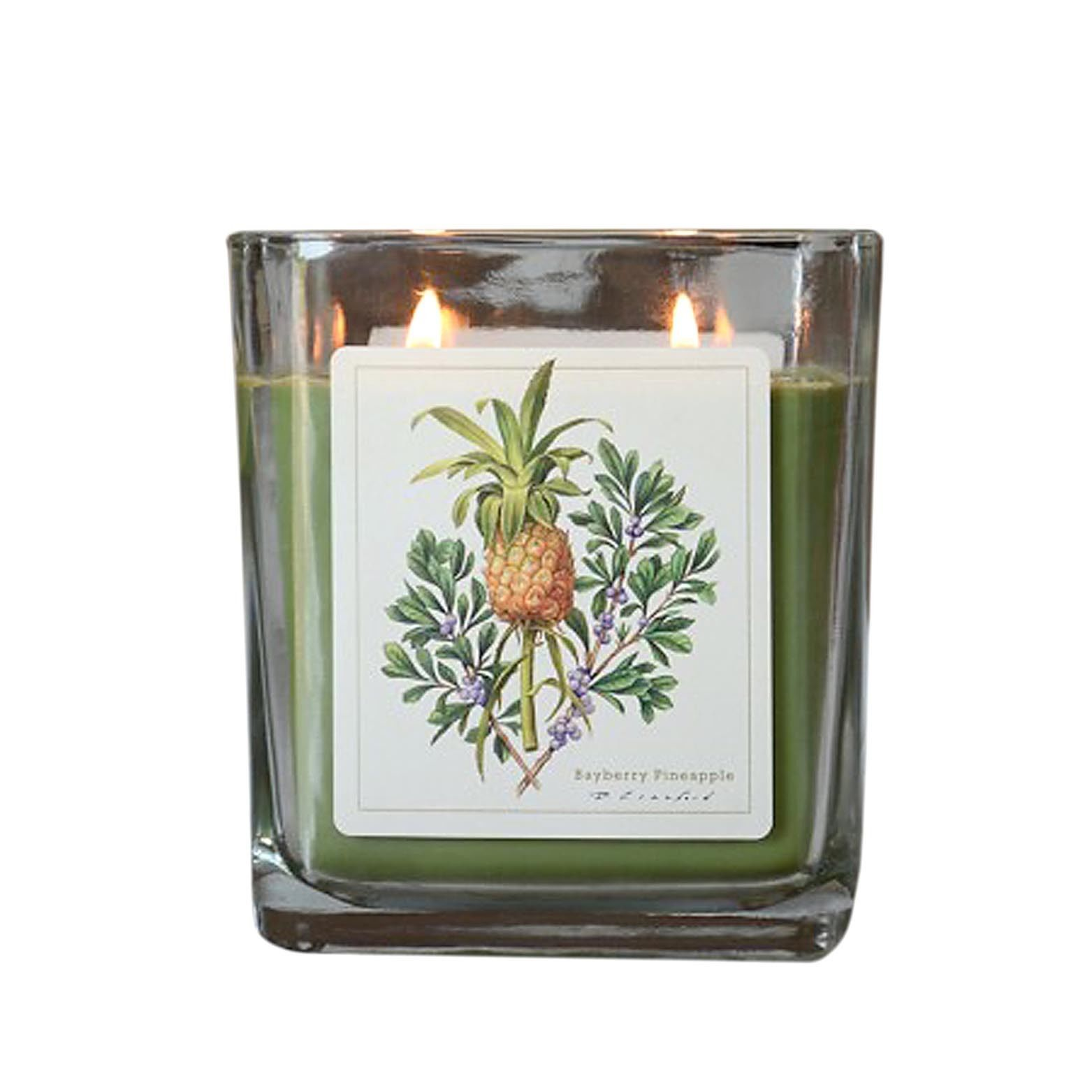Bayberry Pineapple  Hand Poured Verdure Gift Boxed Soy Candle USA made