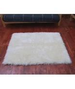 Faux Fur Area Rug Ivory Large - $119.00