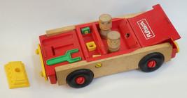 Vintage 1972 Playskool 1970's  Wooden Take Apart Car with Tools & People  - $18.00