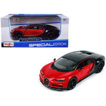 Bugatti Chiron Sport 16 Red and Black Special Edition 1/24 Diecast Model... - $29.01