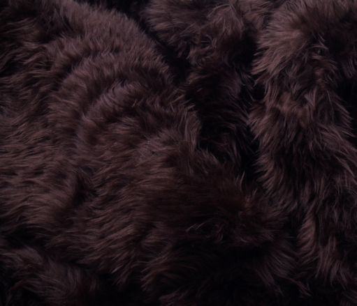 Faux Fur Area Rug Dark Brown Large