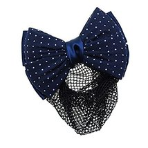 Womens Elegant Hairnet Hair Clip Snood Net Bow Barrette Hairdressing, Q - $10.06