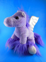 "Animal Adventure 2010 Purple Pegasus white Winged Horse Plush10"" - $9.69"