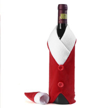 Christmas Wine Bottle Santa Claus Decor Cover Kitchen New Year Xmas Dinn... - $4.99