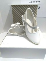 AISLE STYLE Girls Low Mid Heel Party Wedding Mary Jane Style Shoes Size 28 UK