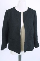 VINCE Wool Blend Cropped Jacket sz 10 black —  women's $345 —  V136190399 - GUC - $89.09