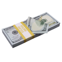 $10,000 New Series Full Print Prop Money Stack - $14.99