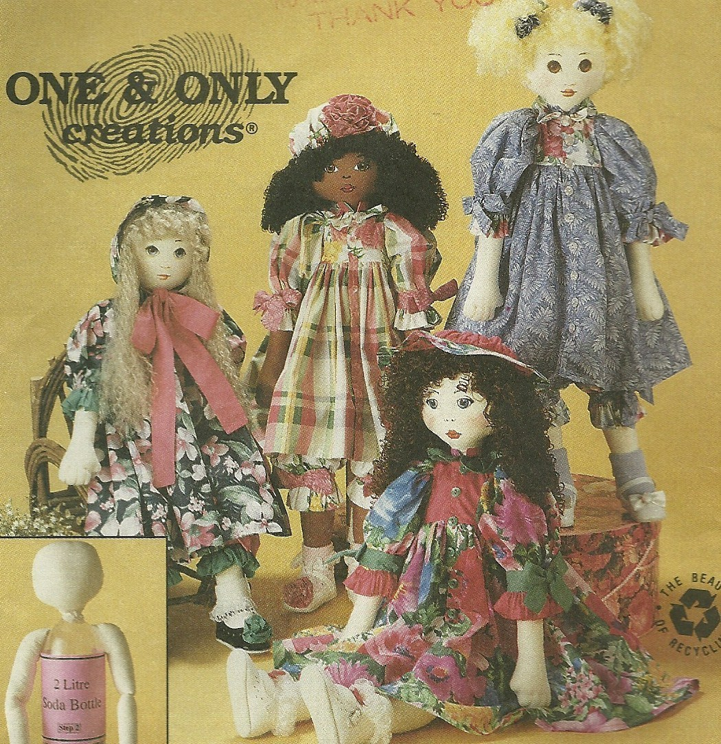 McCall's Sewing Pattern 6831 Dolls New Uncut