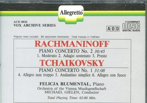 Primary image for Rachmaninoff/Tchaikovsky: Piano Concerti [Audio CD] Rachmaninoff; tchaikovsky...