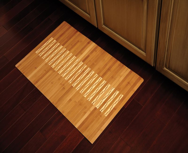 Natural Bamboo Kitchen and Bath Mat 20 inches x 4ft.