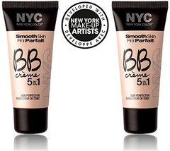 Nyc Smooth Skin Bb Creme 5 In 1 #001 Light (1 Fl Oz) Each (Set Of 2) Plus A F... - $19.99