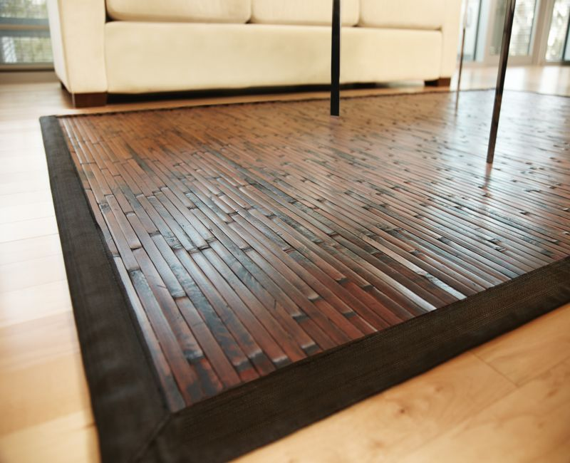 Cobblestone Natural Bamboo Rug 4ft. x 6ft.